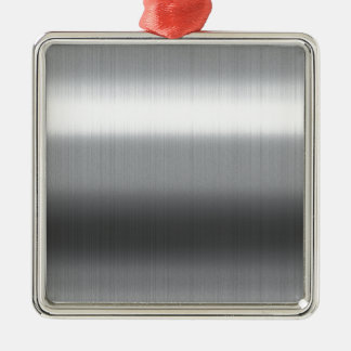 Brushed Stainless Silver-Colored Square Decoration