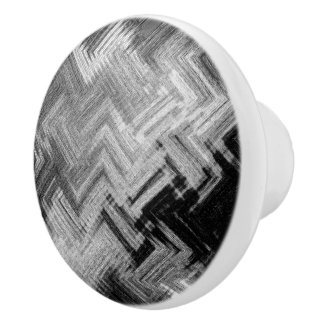 Brushed Steel Ceramic Knob by C.L. Brown