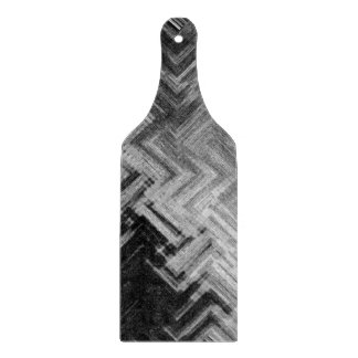 Brushed Steel Decorative Glass Cutting Board