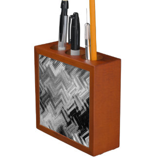 Brushed Steel Desk Organizer by Artist C.L. Brown