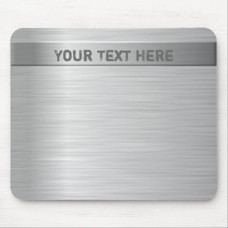Brushed Steel Effect Mouse Pad