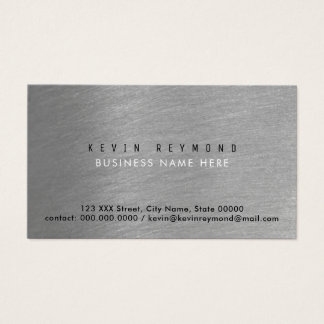 brushed steel gray pro business card