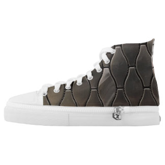 Brushed Steel High Tops