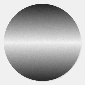 Brushed Steel Round Sticker