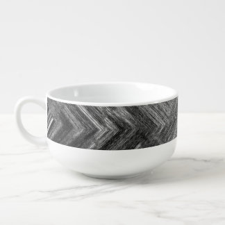 Brushed Steel Soup Mug With Handle