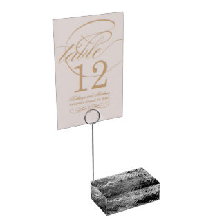 Brushed Steel Table Card Holder