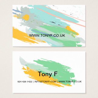 Brushstroke Painter and Decorator Business Card