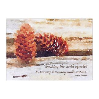 Brushstroke Pine Cones Digital Art