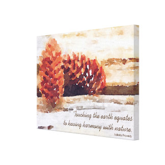 Brushstroke Pine Cones Digital Art Canvas Print