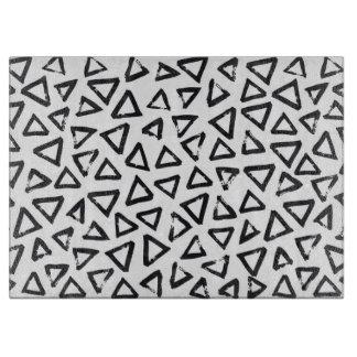 Brushstroke Triangel Pattern, Scandinavian Design Cutting Board