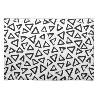 Brushstroke Triangel Pattern, Scandinavian Design Placemat