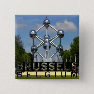 Brussels 15 Cm Square Badge
