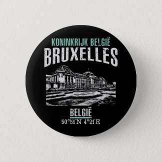 Brussels 6 Cm Round Badge