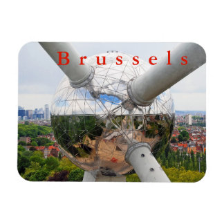 Brussels. Atomium....over the city. Magnet