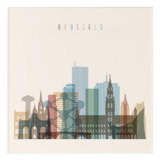 Brussels, Belgium | City Skyline Acrylic Wall Art