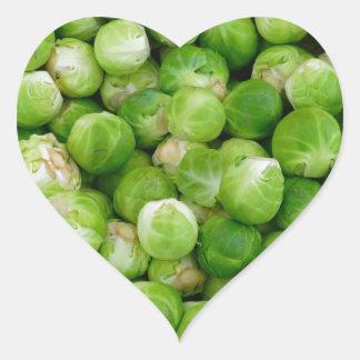 Brussels cabbage heart sticker