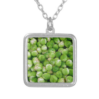 Brussels cabbage silver plated necklace