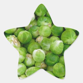 Brussels cabbage star sticker
