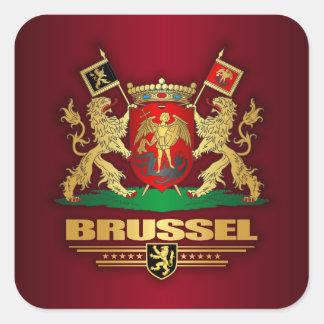 Brussels COA Square Sticker