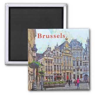 Brussels. Grand Place. Magnet