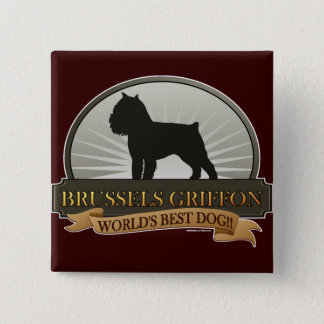 Brussels Griffon 15 Cm Square Badge
