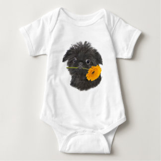Brussels Griffon black for apparel Baby Bodysuit