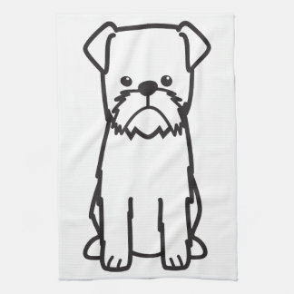 Brussels Griffon Dog Breed Cartoon Tea Towel