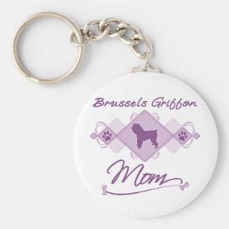 Brussels Griffon Mom Key Ring