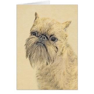 Brussels Griffon Painting - Cute Original Dog Art Card