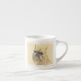 Brussels Griffon Painting - Cute Original Dog Art Espresso Cup