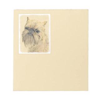 Brussels Griffon Painting - Cute Original Dog Art Notepad