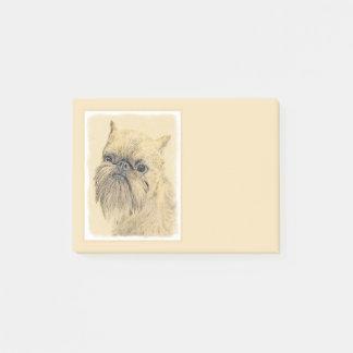 Brussels Griffon Painting - Cute Original Dog Art Post-it Notes