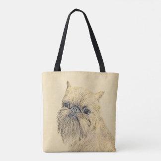 Brussels Griffon Painting - Cute Original Dog Art Tote Bag