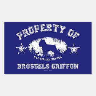 Brussels Griffon Rectangular Sticker