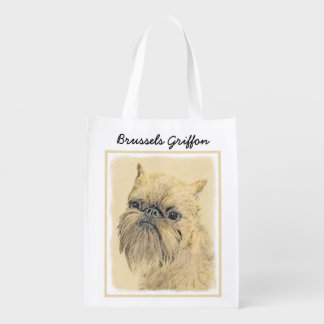 Brussels Griffon Reusable Grocery Bag