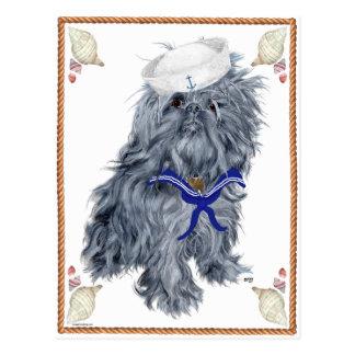 Brussels Griffon Sailor Postcard