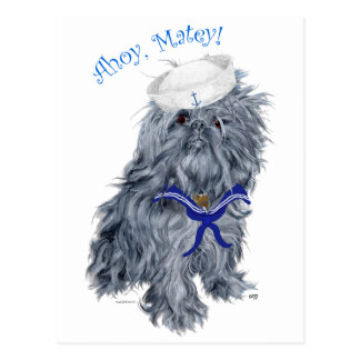 Brussels Griffon Sailor Postcard