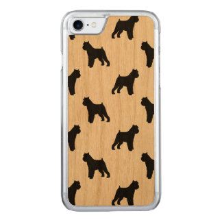 Brussels Griffon Silhouettes Pattern Carved iPhone 8/7 Case
