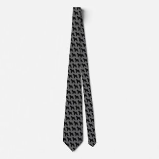 Brussels Griffon Silhouettes Pattern Tie