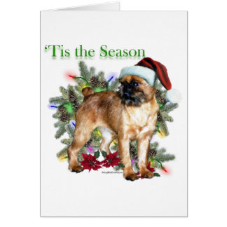 Brussels Griffon Tis the Season Card