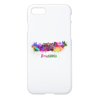 Brussels skyline in watercolor iPhone 8/7 case