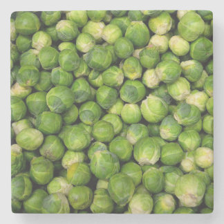 Brussels sprouts stone coaster