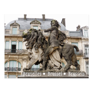 Brussels Statue Postcard