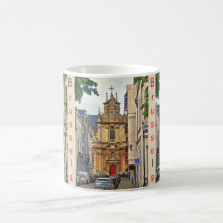 Brussels. View of  Beguinage church. Coffee Mug