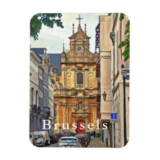 Brussels. View of  Beguinage church. Magnet