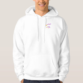 Brussels world city, colorful text art hoodie