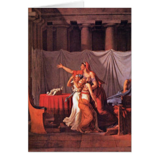 Brutus Bring His Sons By Jacques-Louis David Greeting Cards