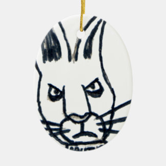 Brutus the Rabbit That Changed the World Ceramic Oval Decoration