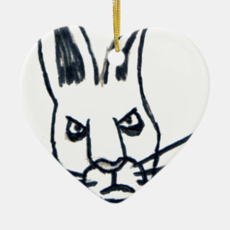 Brutus the Rabbit That Changed the World Ceramic Heart Decoration