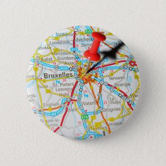 Bruxelles, Brussel, Brussels  in Belgium 6 Cm Round Badge